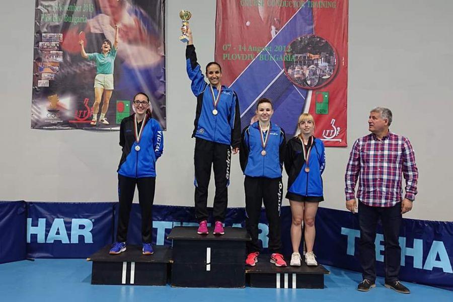 Спортният талант  Мария Йовкова грабна три златни медала от Държавно отборно и индивидуално първенство по тенис на маса