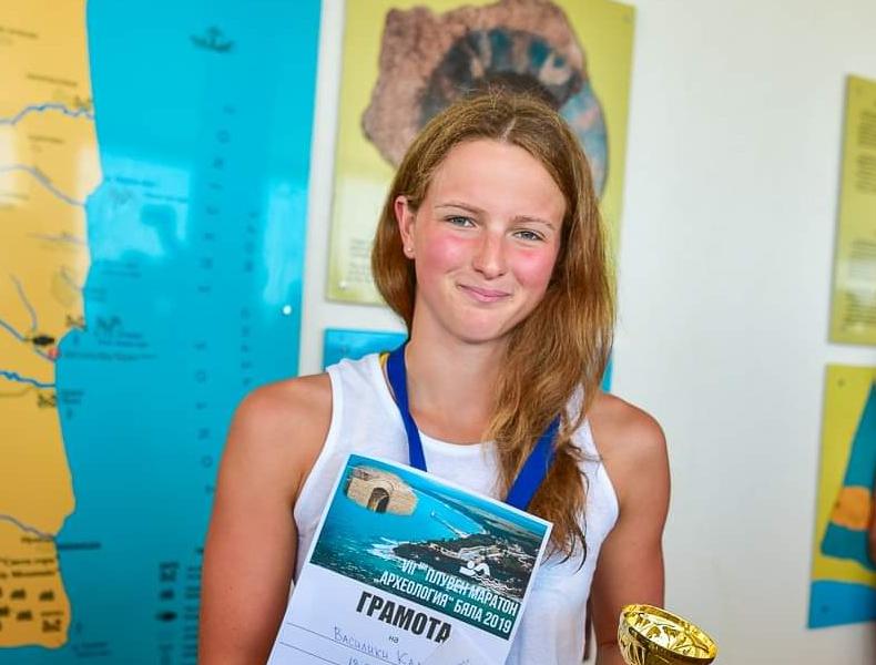 Талантът Василики Кадоглу спечели плувния маратон в Несебър